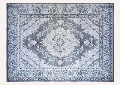 "Oxford Gray Area Rug 7'10"" x 10'2"""