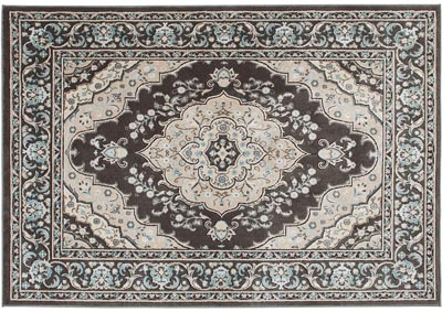 "Home Dynamix Oxford Caspian Traditional Area Rug 5'2""x7'2"" Medallion Gray/Beige/Blue"