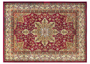 "Royalty Red Rug 43""X62"""