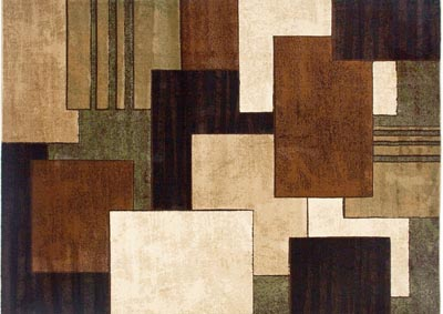 "Image for Home Dynamix Tribeca Mason Contemporary Area Rug 7'10""x10'6"" Geometric Brown/Green"