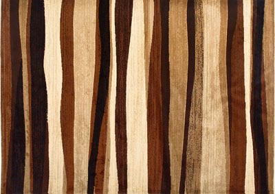 "Image for Home Dynamix Tribeca Jayden Contemporary Area Rug 7'10""x10'6"" Striped Brown/Beige/Black"