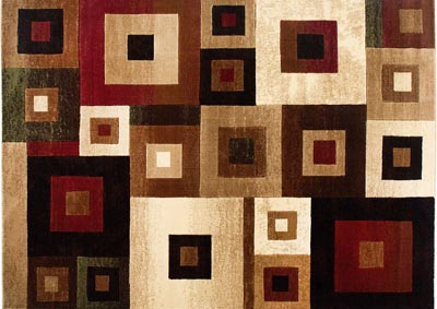 "Image for Home Dynamix Tribeca Harper Contemporary Area Rug 7'10""x10'6"" Geometric Beige/Brown/Red"