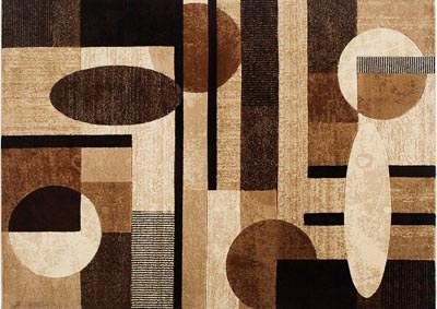 "Image for Home Dynamix Tribeca Jasmine Contemporary Area Rug 7'10""x10'6"" Geometric Brown/Beige/Black"