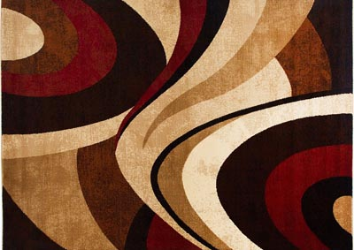"Image for Home Dynamix Tribeca Slade Contemporary Area Rug 7'10""x10'6"" Abstract Brown/Red"