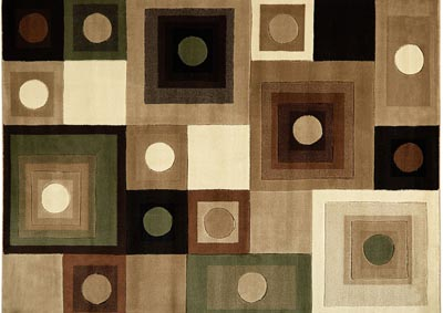 "Image for Home Dynamix Tribeca Adella Contemporary Area Rug 7'10""x10'6"" Geometric Brown/Green"