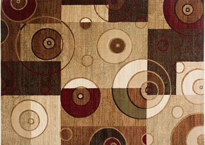 "Image for Home Dynamix Tribeca Hiram Contemporary Area Rug 7'10""x10'6"" Geometric Beige/Green/Red"