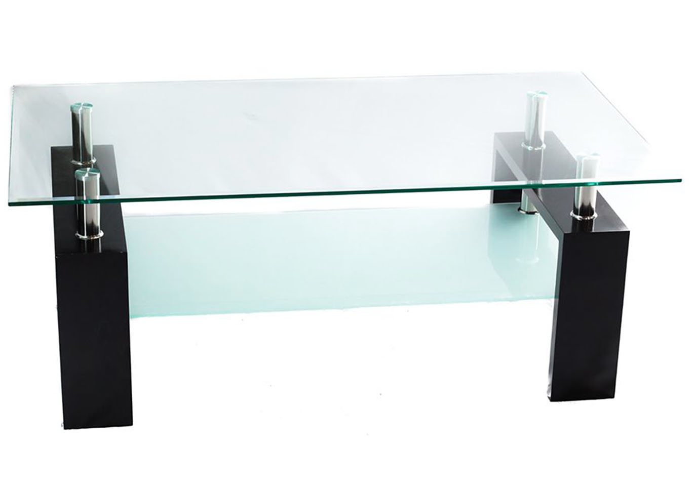 Clear White Glass Coffee Table Bob S Discount House