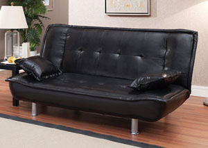 Image for Black Sofa Bed & 2Pillows