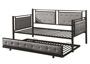 Image for Black/Grey Daybed With Trundle