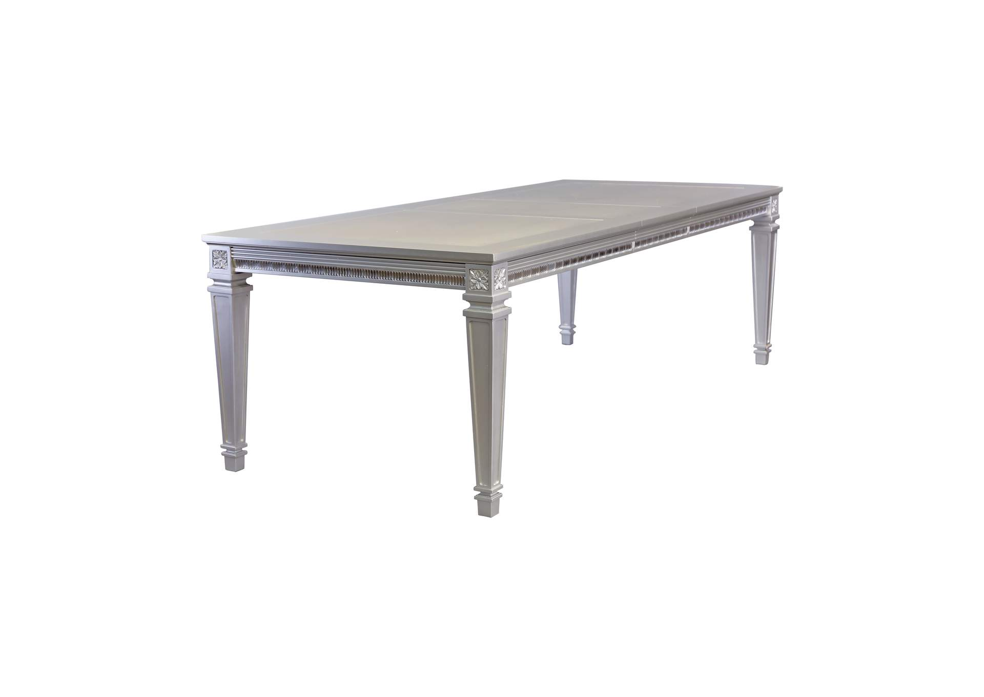 Bevelle Platinum Dining Table,Homelegance
