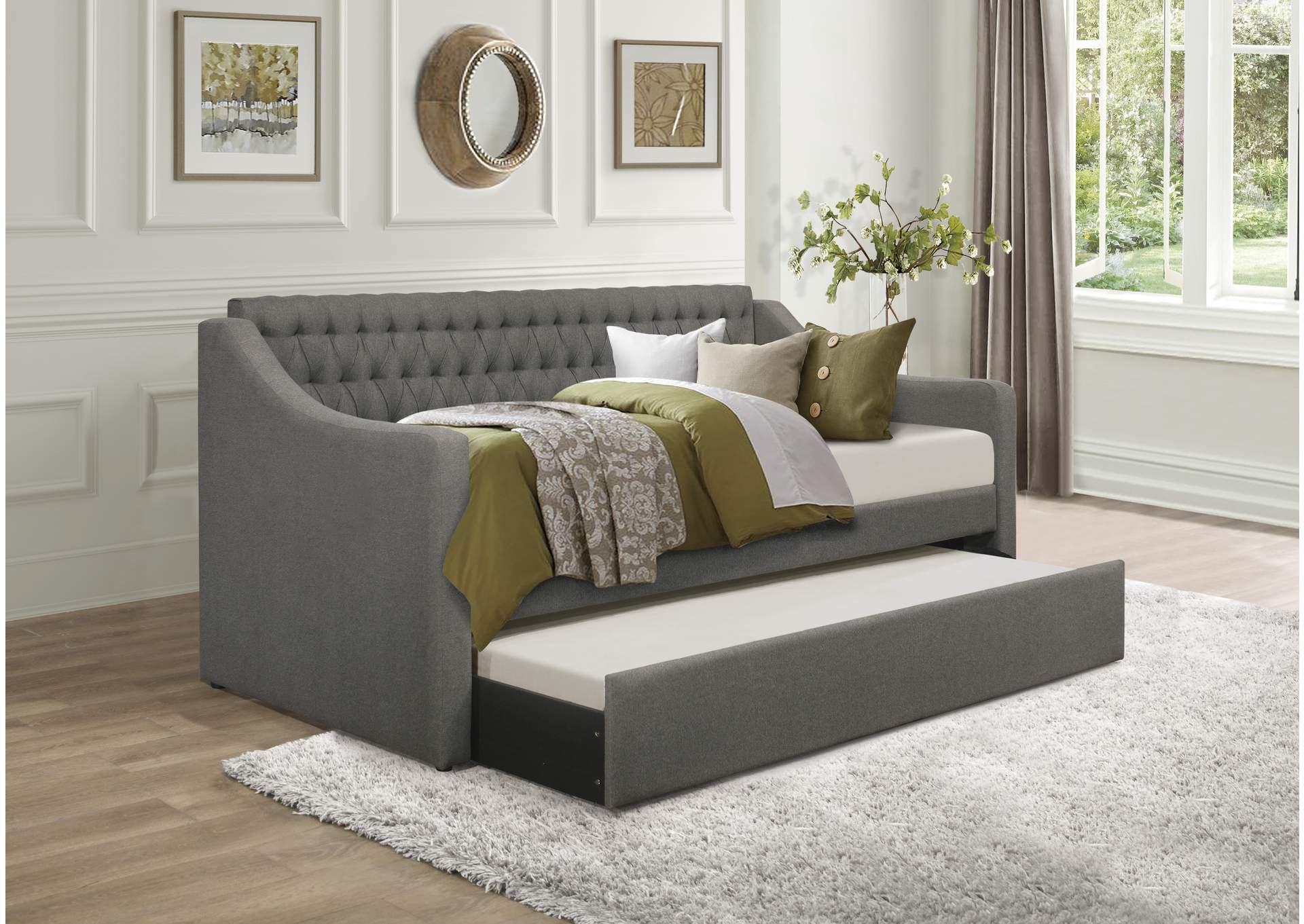 LaBelle Grey Daybed W/ Trundle,Homelegance