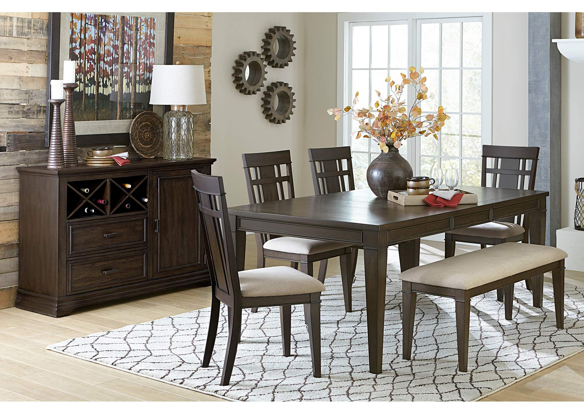 Dark Brown Dining Table,Homelegance