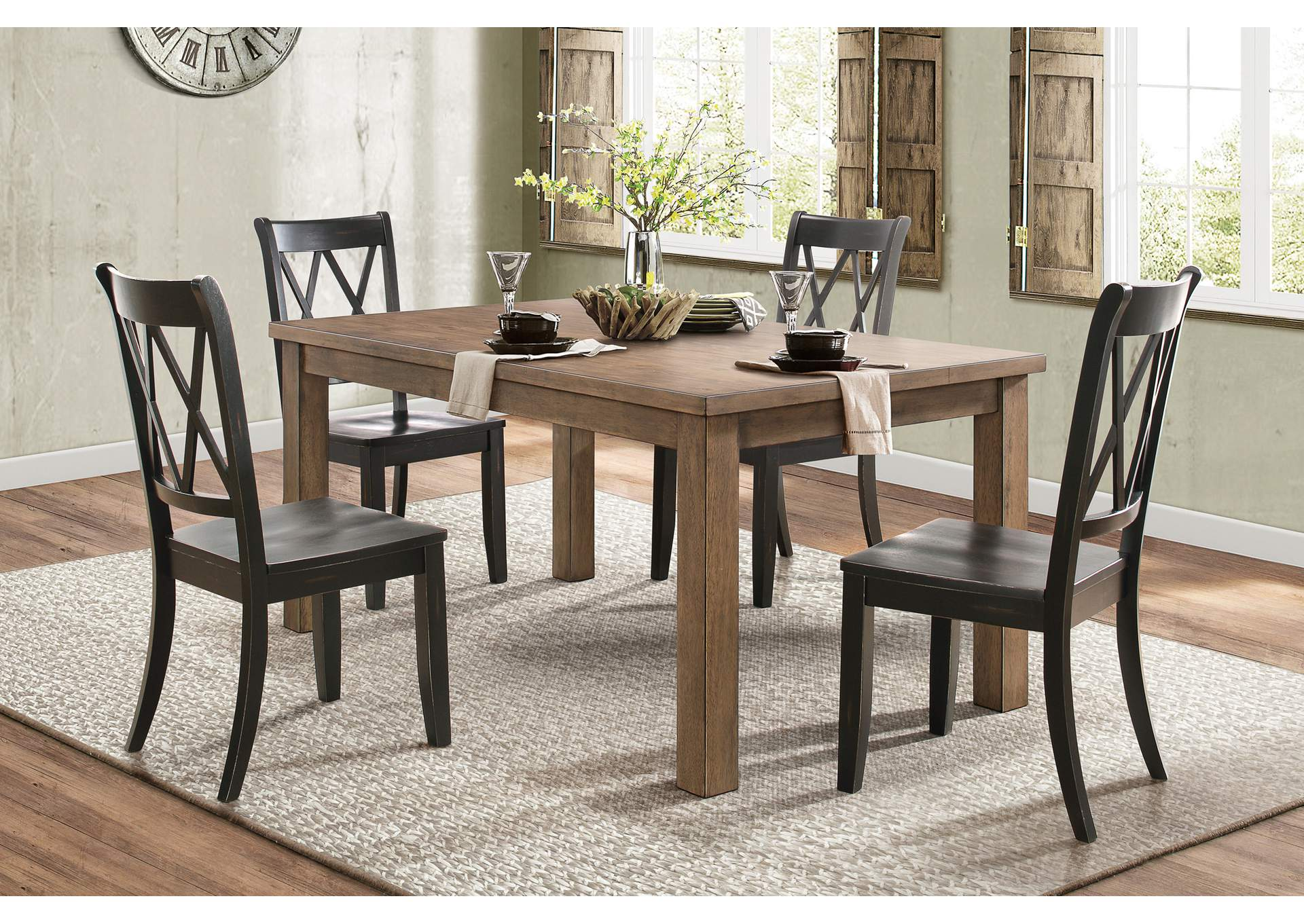 Oak Dining Table,Homelegance