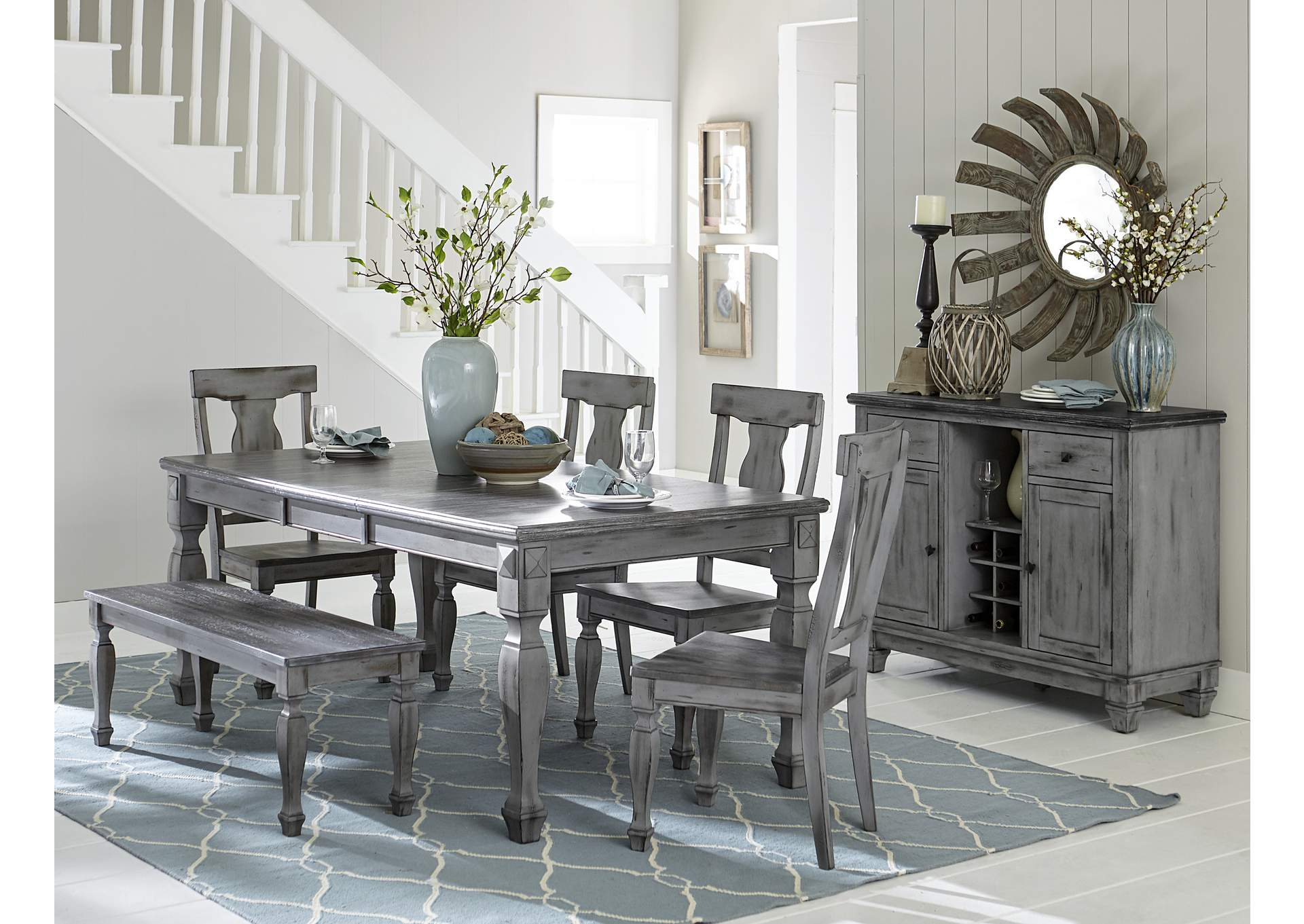 Grey Dining Table,Homelegance
