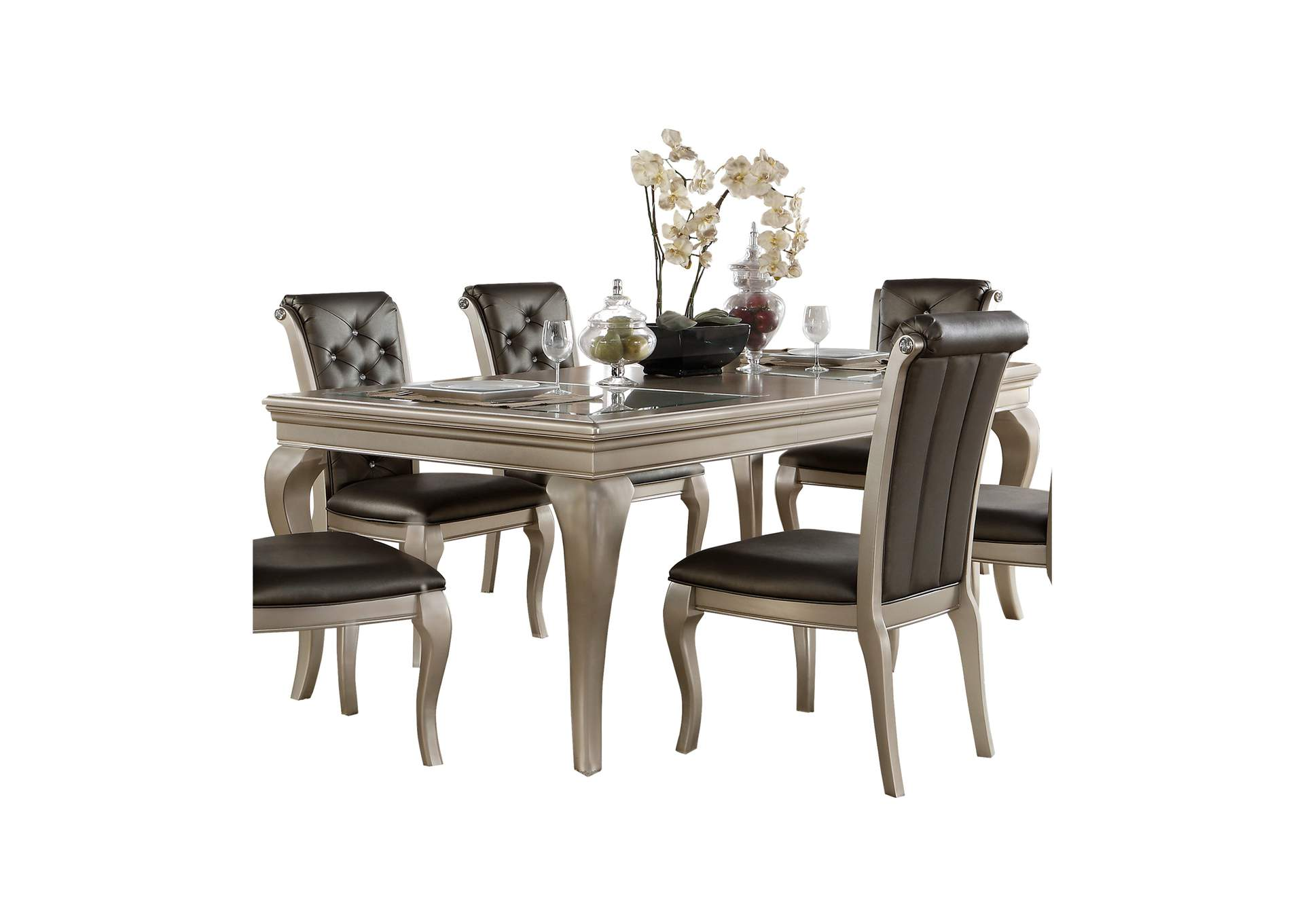 Silver Dining Table,Homelegance