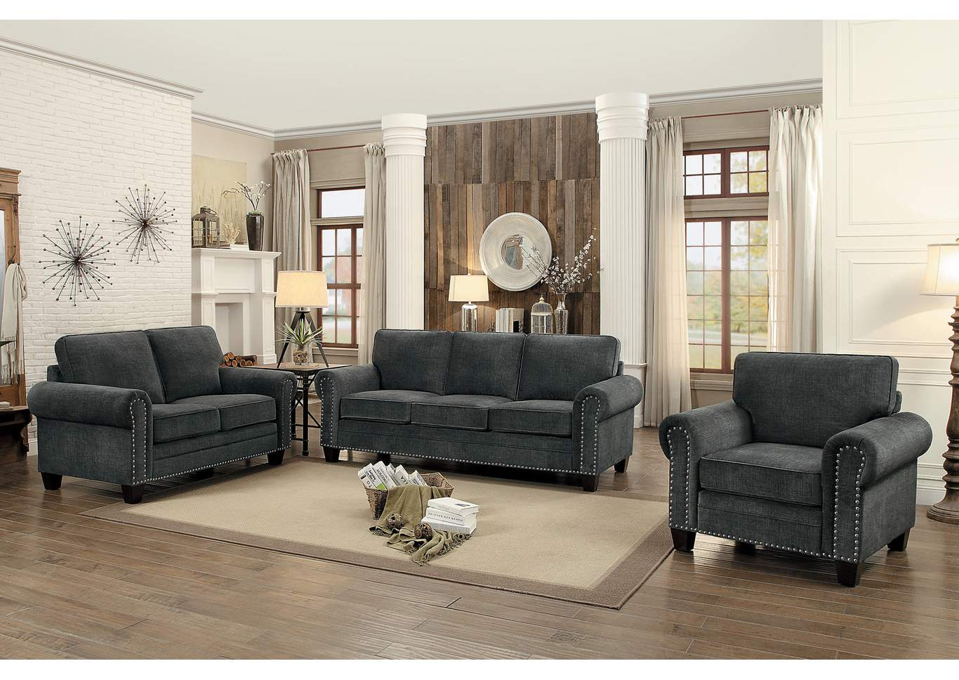 Dark Gray Sofa,Homelegance