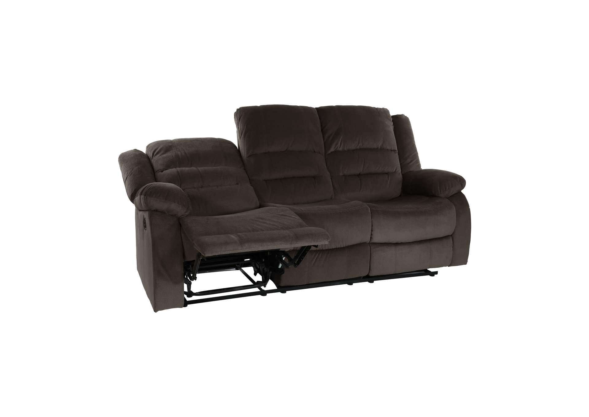 Chocolate Double Reclining Sofa,Homelegance