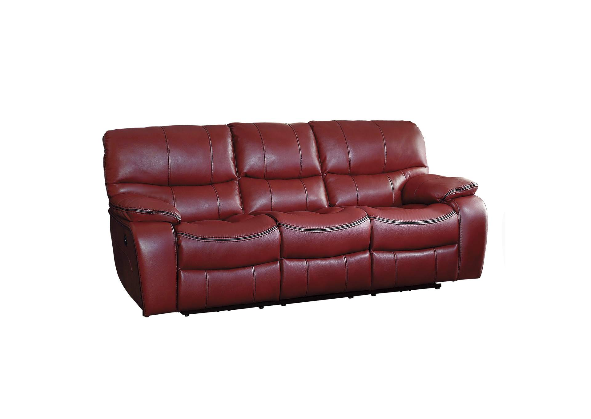 Red Power Double Reclining Sofa,Homelegance