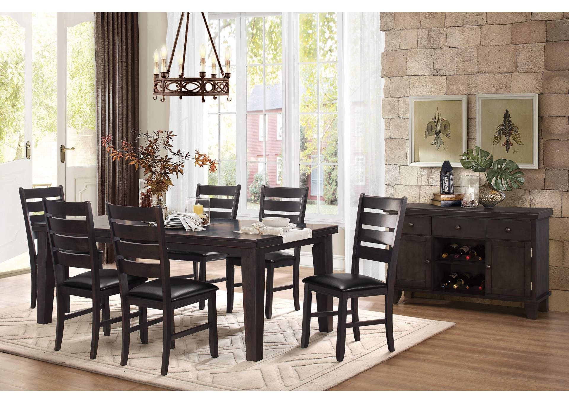Brown Dining Table,Homelegance