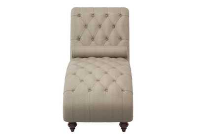 Image for Brown Chaise with Nailhead and Pillow