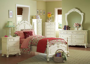 Image for Cinderella White Dresser w/Mirror