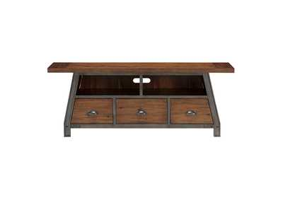 Image for Holverson Rustic Brown & Gunmetal TV Stand