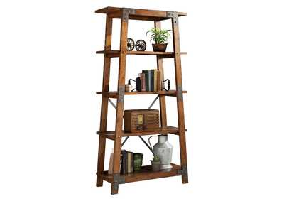Image for Holverson Rustic Brown & Gunmetal Bookcase