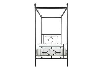 Image for Hosta Black Twin Canopy Platform Bed