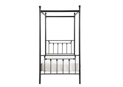 Image for Chelone Black Twin Canopy Platform Bed