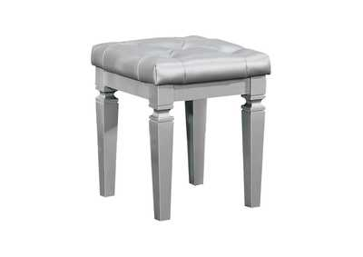 Image for Allura Silver Vanity Stool