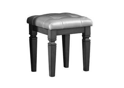 Image for Allura Gray Vanity Stool
