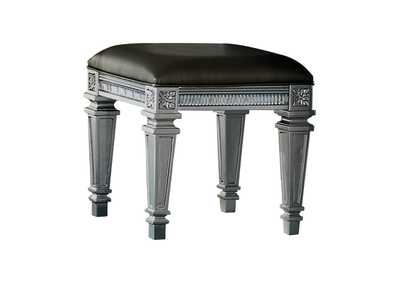 Image for Bevelle Gray Vanity Stool