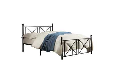 Image for Mardelle Black Full Metal Platform Bed