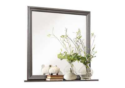 Image for Mayville Stained Grey Mirror