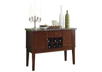 Image for Brown Server, Marble Top