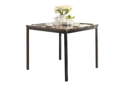 Image for Tempe Brown Counter Height Table W/ Faux Marble Top
