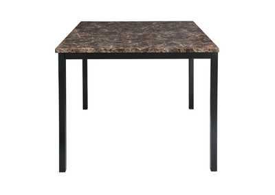 Image for Brown Counter Height Table, Faux Marble Top
