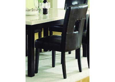 Image for Archstone Black Bi-Cast Vinyl Side Chair (Set of 2)
