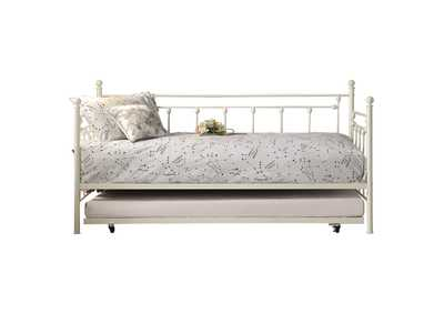 Image for Lorena White Metal Daybed W/ Trundle
