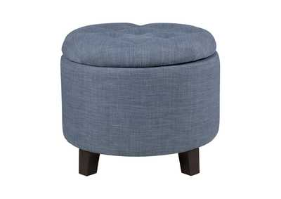 Image for Blue Gray Storage Ottoman