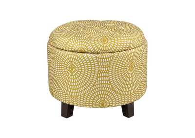Image for Yellow Storage Ottoman