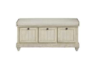 Image for Beige Lift Top Storage Bench