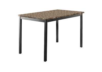 Image for Brown Dining Table, Faux Marble Top