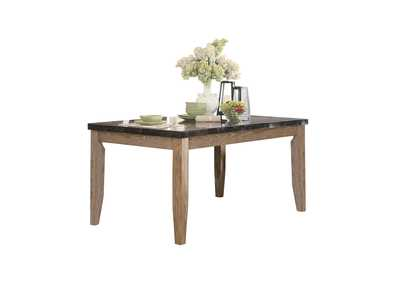 Grey Dining Table, Faux Marble Top