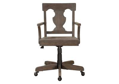 Image for Toulon Acacia & Oak Swivel Office Chair