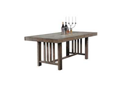Grey Brown Dining Table,Homelegance