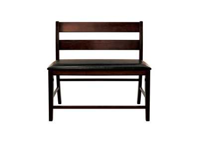 Image for Dark Brown Counter Height Bench with Back