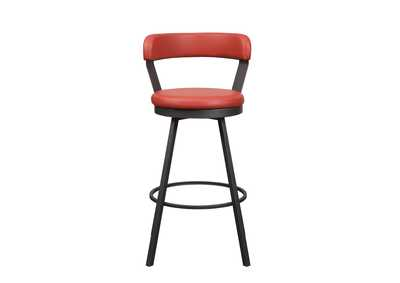 Image for Red Swivel Pub Height Chair [Set of 2]