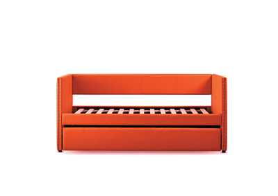 Therese Orange Daybed W/ Trundle