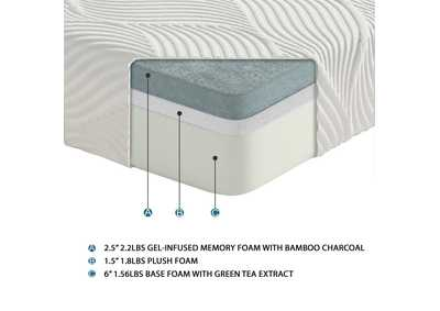 "Image for White 10"" Twin XL Gel Mattress"